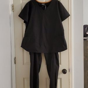 Ladies Black Scrub Set